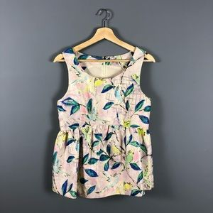 Leifsdottir anthropologie bird peplum brocade top